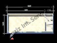 2.4×6 = 14.4 m2 Conteneur Hekim Panneau