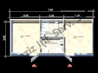 3×7 = 21 m2 Conteneur Hekim Panneau