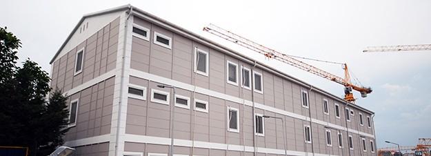 Bâtiments de chantier pour des projets de construction